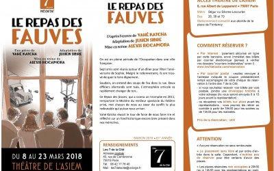 Soirée théâtre : Le repas des fauves