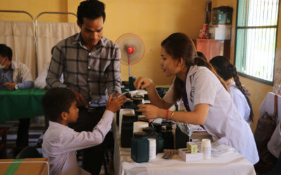 Medical check-up for Phnom Penh students